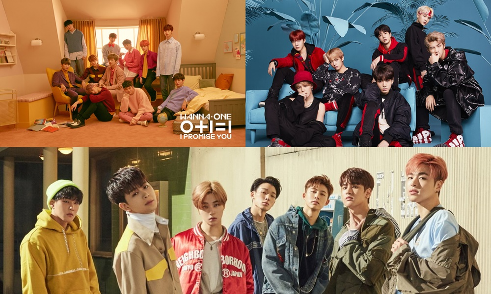Wanna One, BTS dan iKON