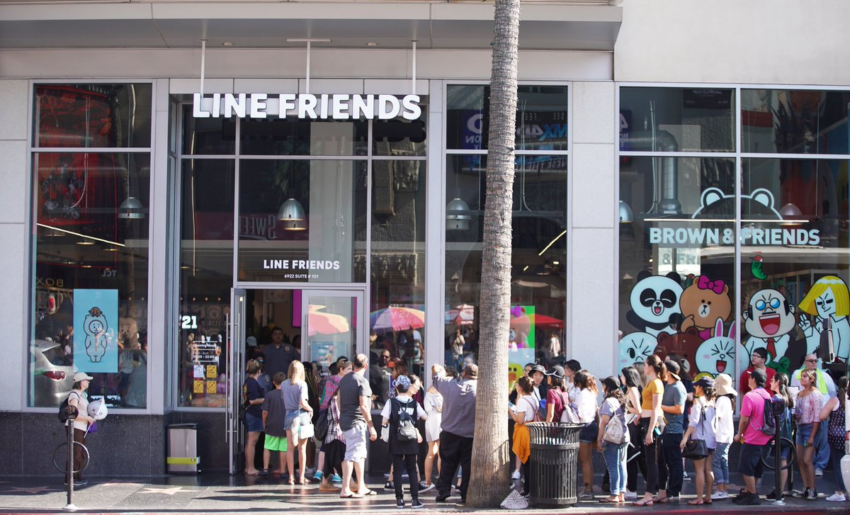LINE FRIENDS in Hollywood
