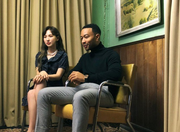 Wendy dan John Legend Duduk Bareng di Teaser Lagu Duet 'Written in the Stars'