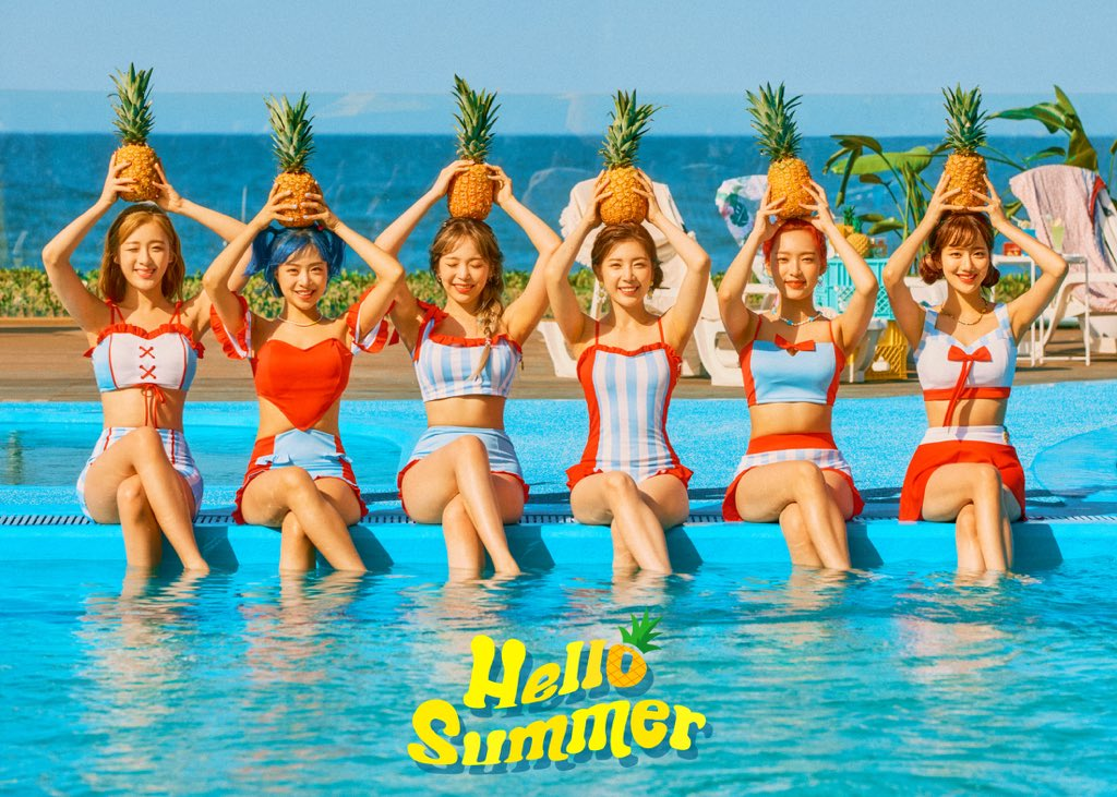 APRIL Pose Dengan Swimsuit Dalam Teaser Comeback 'Hello Summer'