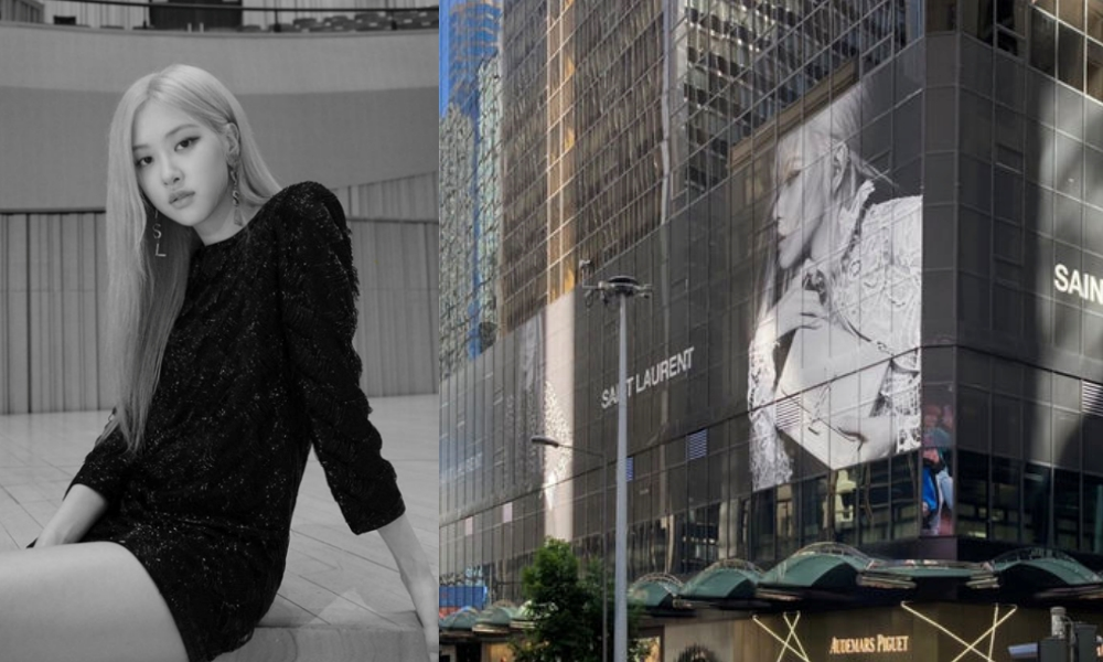 Jadi Brand Ambassador Global Saint Laurent, Foto Rose BLACKPINK Dipajang di Central Building Hong Kong