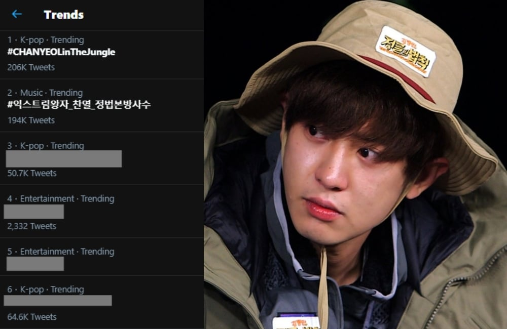 Muncul di 'Law of the Jungle', Chanyeol EXO Jadi Trending Topik di Twitter Indonesia!